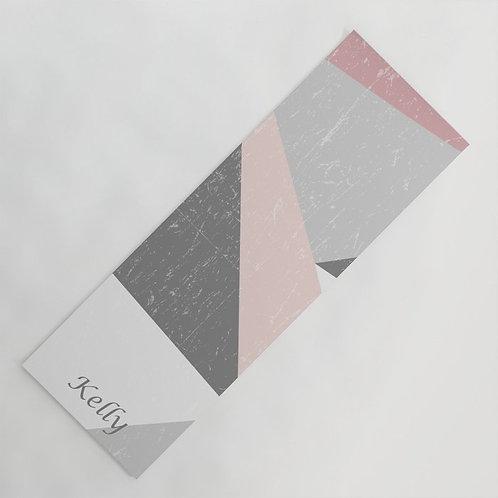 personalized  geometric shapes yoga mat