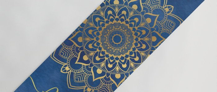 Mandala Gold and Blue Yoga Mat
