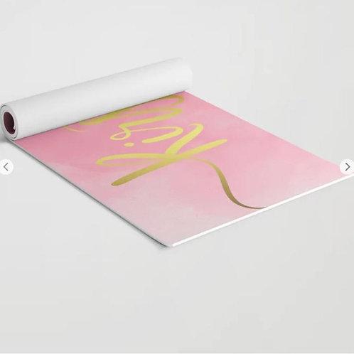 Personalized Custom Text Yoga Mat