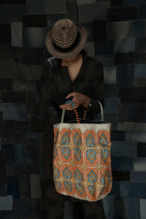 Cabas modèle Blue & Orange En Shallah Food Bag Foundation