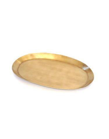 petit plateau oval en laiton