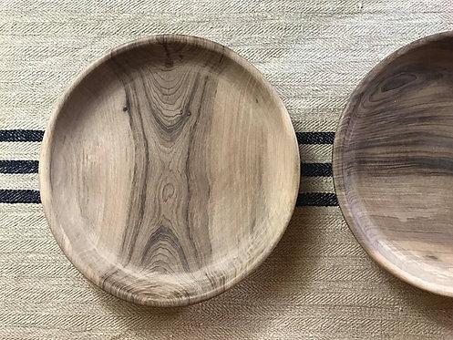 Assiette XL en bois de noyer