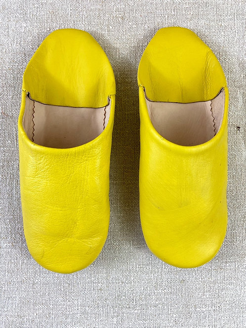Babouches beldi (jaune)
