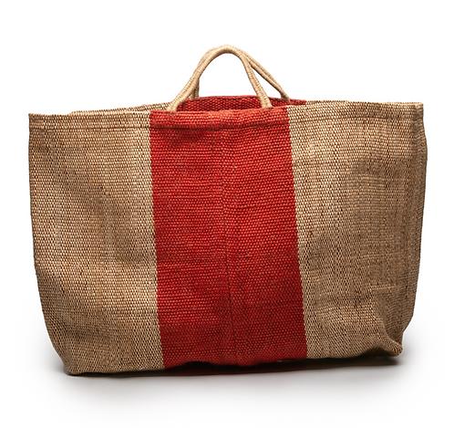 Grand sac cabas naturel / brique