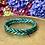 Thumbnail: Bracelet tressé Mix (Bleu Glacier/Bleu Saphir/Bleu Azur/Vert Emeraude/Green)