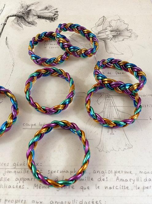 Bracelet double tresse Rainbow