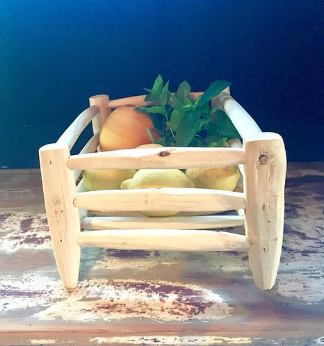 La corbeille à fruits en bois