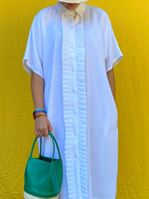 Robe blanche collaboration Redjoumbar & Maison Izel