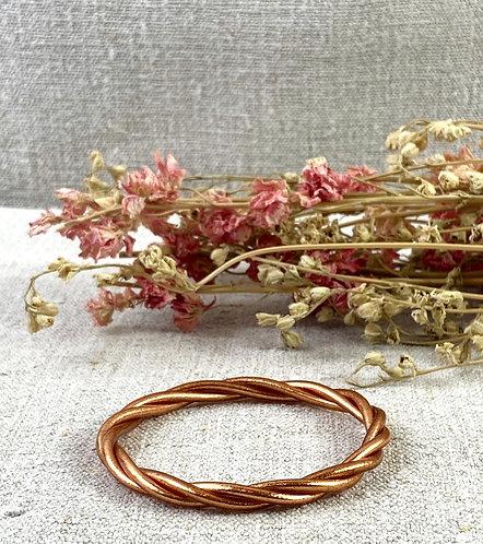 Bracelet Bouddhiste torsadé version cuivre