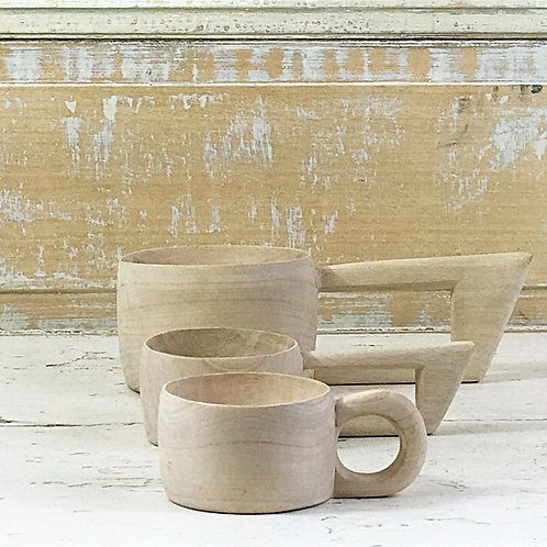 Tasses en bois, design Japonais