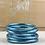 """Thumbnail: Bracelet Bouddhiste mantra épais """"bleu glacier"""""""