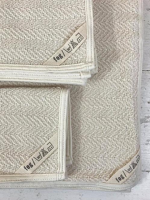 Serviettes en coton à chevrons