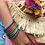 """Thumbnail: Bracelet bouddhiste mantra épais """"orange"""""""