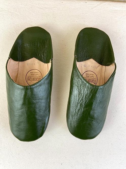 Babouche Beldi (kaki) Qualité supérieure