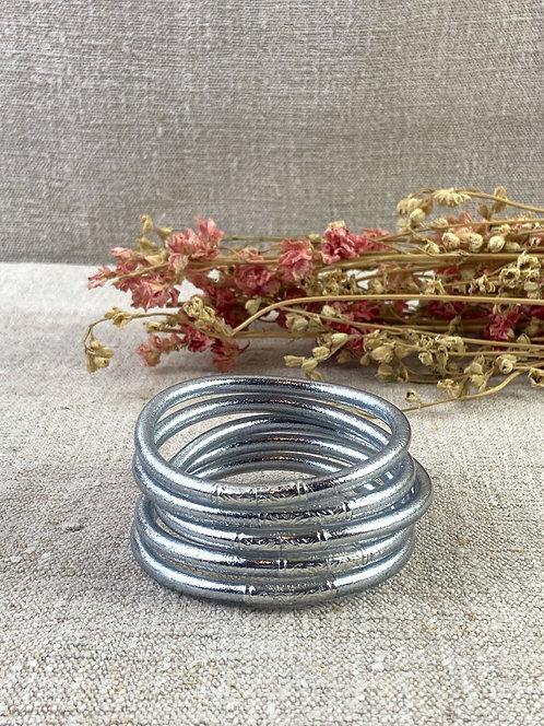 Bracelet Bouddhiste Mantra version Argent épais (qualité supérieure)