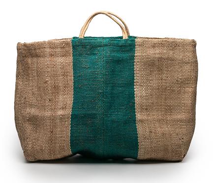 Grand sac cabas naturel / vert