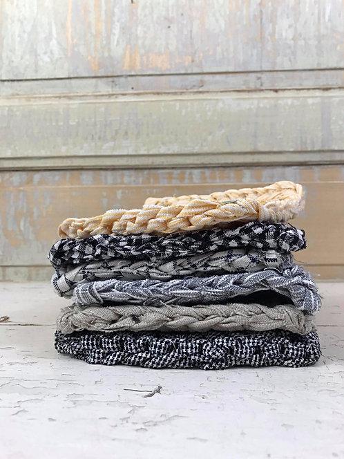 Dessous de plat en lin tricoté