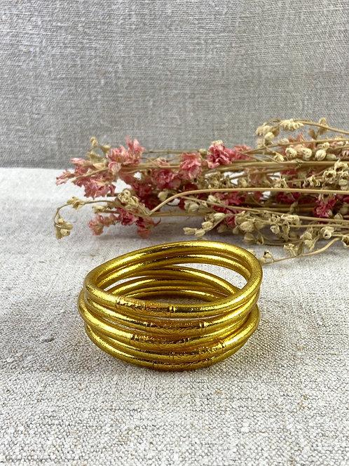 Bracelet Bouddhiste Mantra Gold épais (qualité supérieure)