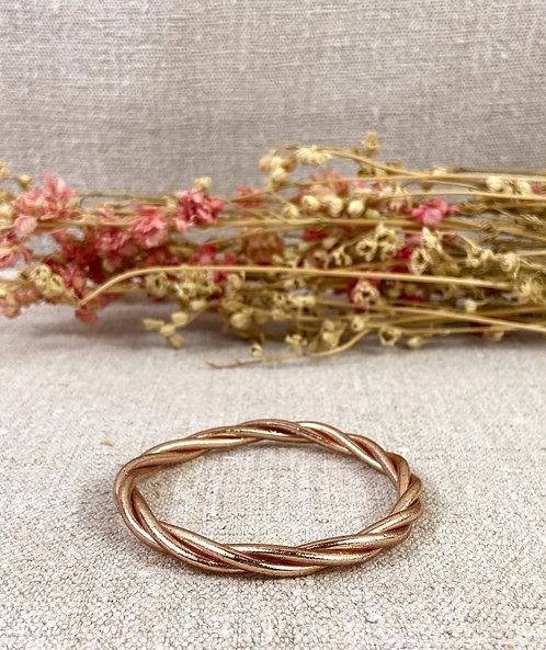 Bracelet Bouddhiste torsadé version champagne