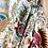 Thumbnail: Kimono imprimé fleuri écru