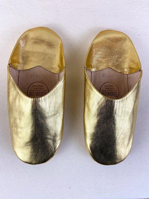 Babouches Beldi (Gold) Qualité supérieure