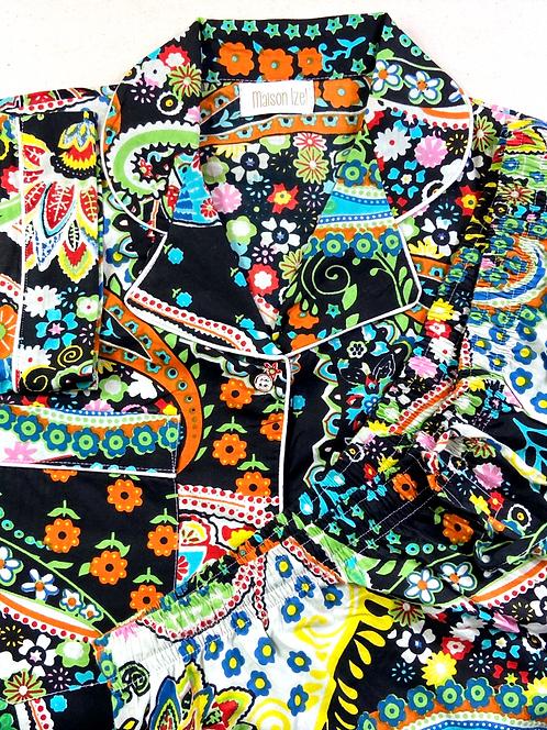Pyjama inspiration 70's  fond noir