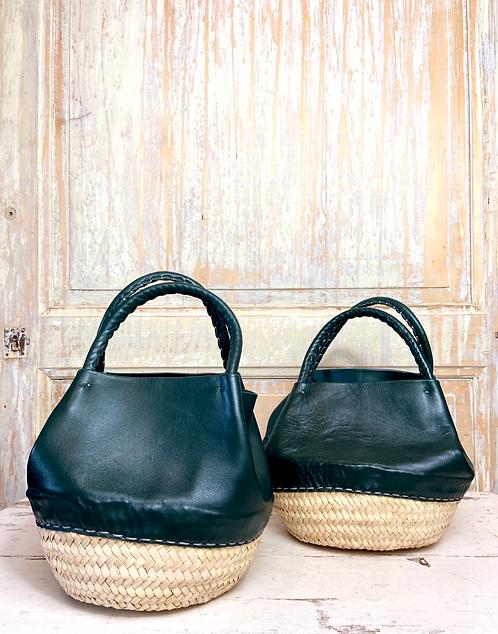 Le petit sac panier cuir Nouss Nouss kaki