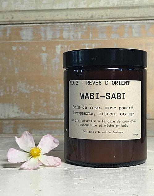 Bougie Wabi-Sabi N°2 : REVE D'ORIENT