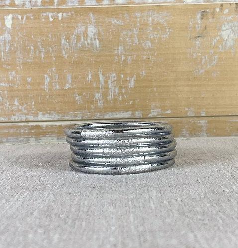 Bracelet Bouddhiste Mantra  Silver épais (qualité supérieure)