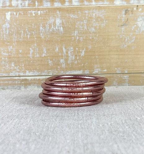 Bracelet Bouddhiste Mantra  Pink Gold épais (qualité supérieure)