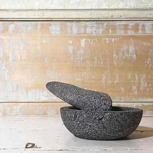 Mini mortier en pierre de lave