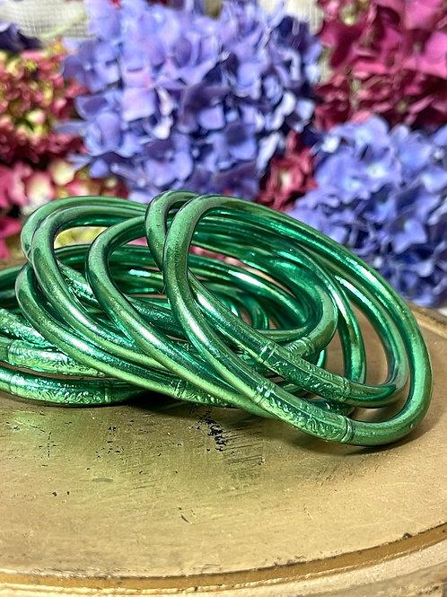 Bracelet bouddhiste Mantra épais Green (qualité supérieure)