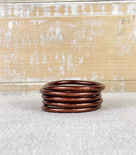 Bracelet bouddhiste Mantra Dark Brown épais (qualité supérieure)