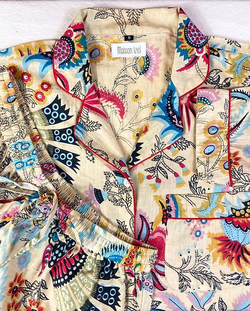 Pyjama imprimé sépia