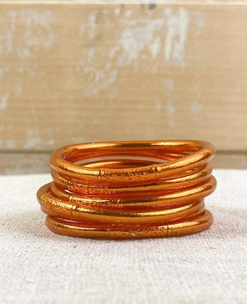 """Bracelet bouddhiste mantra épais """"orange"""""""