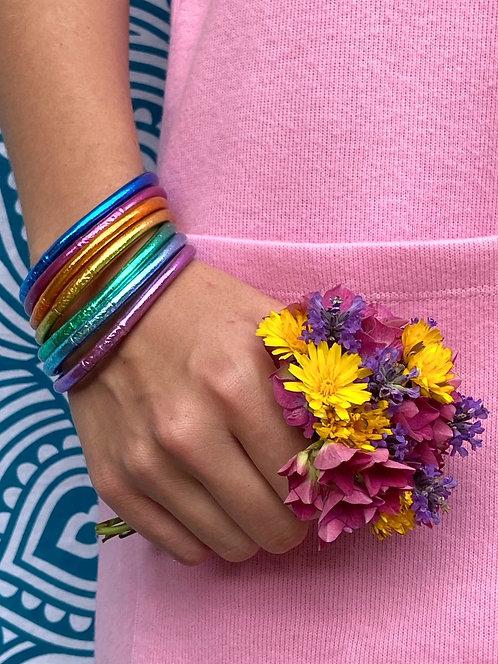 Bracelets Rainbow Mantra épais  (lot de 7 bracelets) Qualité supérieure