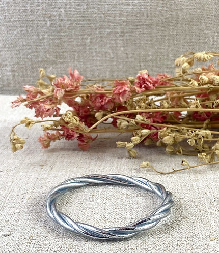 Bracelet Bouddhiste torsadé version argent