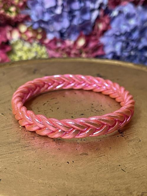 Bracelet bouddhiste tressé version pink