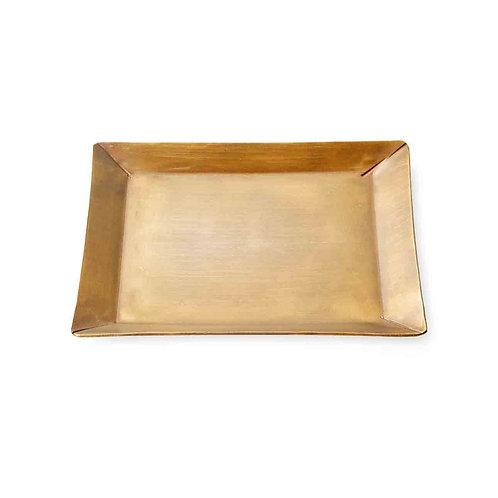petit plat carré en laiton