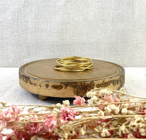 Bracelet Bouddhiste fin version light gold