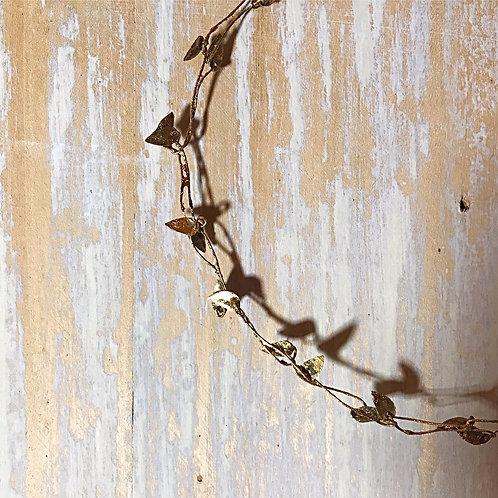 Guirlande feuilles d'or