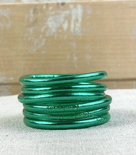 """Bracelet bouddhiste mantra épais """"vert émeraude"""""""