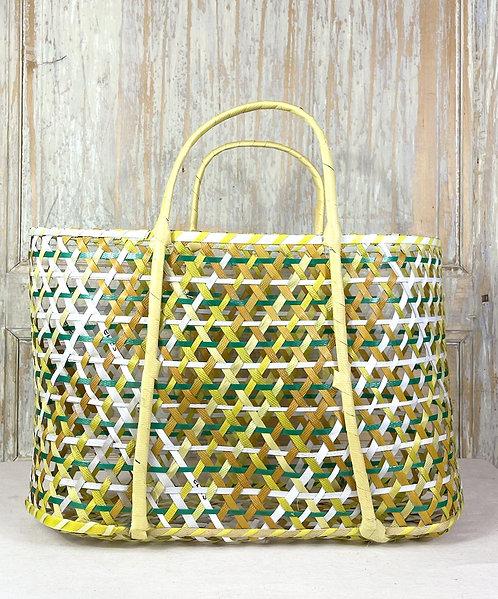 Panier en plastique recyclé (jaune)