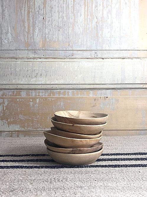 Mini assiette en bois d'olivier