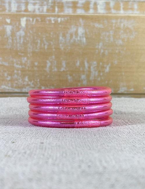 Bracelet bouddhiste Mantra épais  Pink (qualité supérieure)