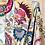 Thumbnail: Kimono imprimé fleuri sépia
