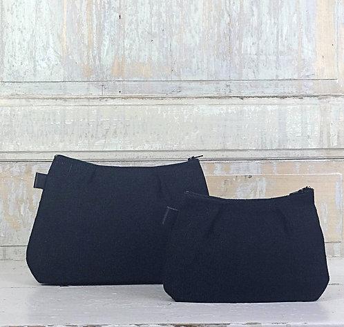 Pochettes en lin noir