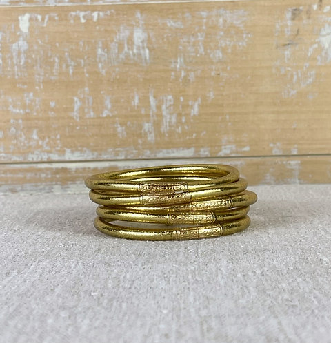 Bracelet Bouddhiste Mantra  Light Gold épais (qualité supérieure)