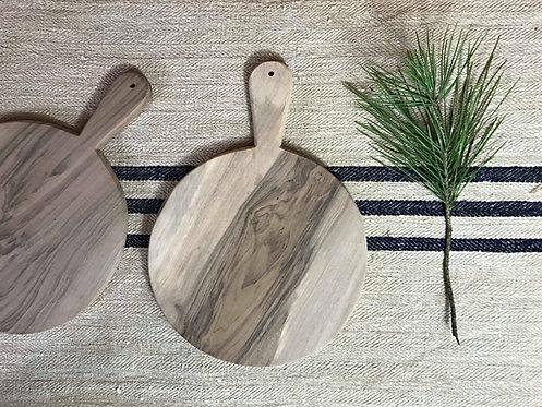 La planche ronde  en bois de noyer