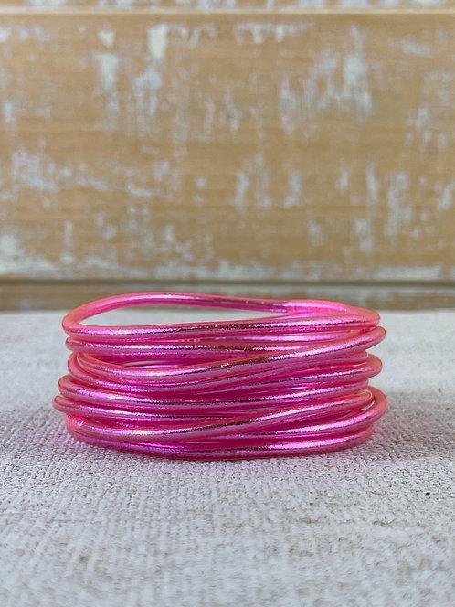 Bracelet bouddhiste fin Pink (qualité supérieure)